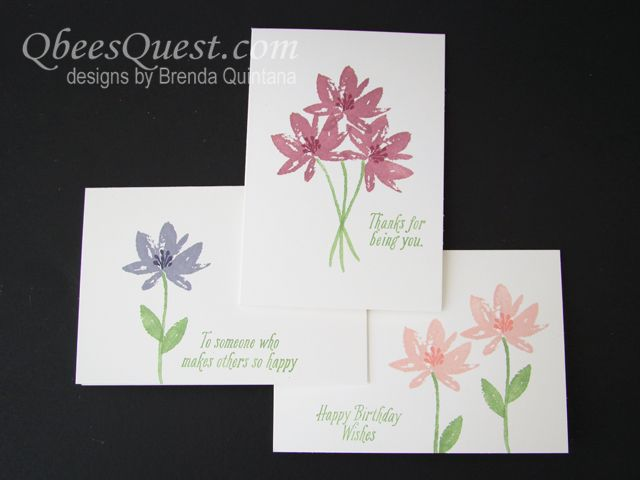 These pretty little note cards are super easy to make.  You can find out my tips and tricks to make them with my video tutorial here: http://qbeesquest.blogspot.com/2017/01/avant-garden-note-cards.html.  They will also have an accompanying note card holder which I'll share in a couple of days.