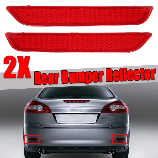 Left Right Side New Rear Bumper Reflector Stickers Red For Ford
