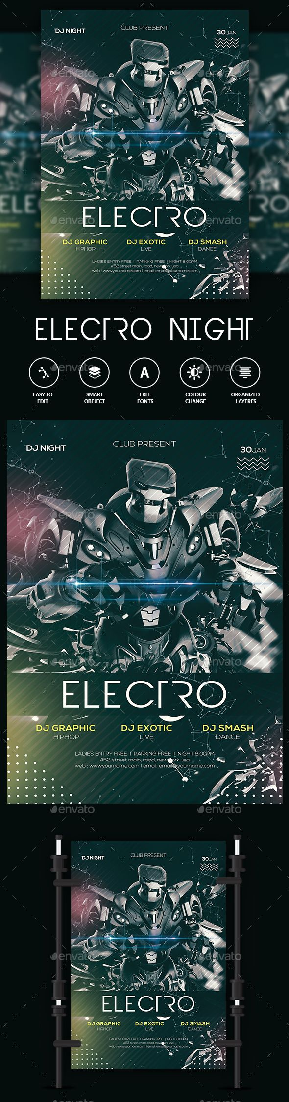#Electro Alternative Space Flyer - #Clubs & Parties #Events