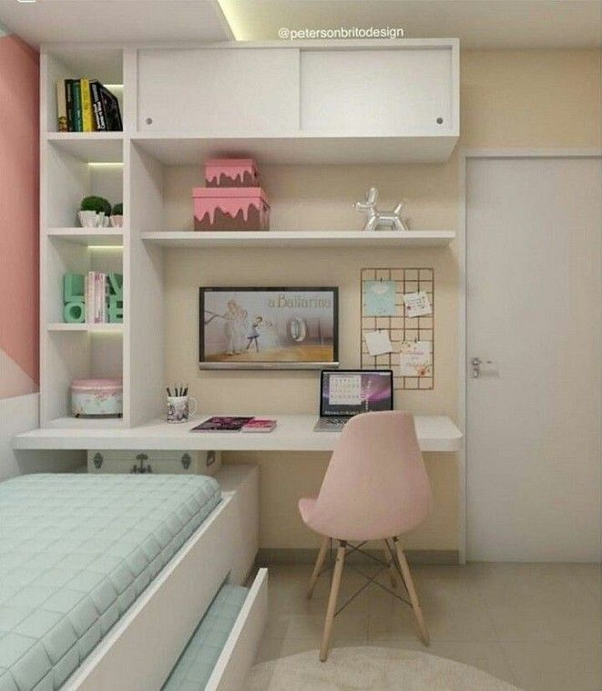 10 Smart Tips Space Saving Ideas For Your Small Bedroom 15 In 2020 Small Room Bedroom Girl Bedroom Designs Cute Room Decor