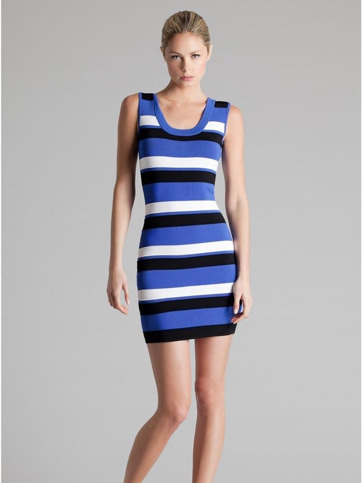 GUESS by Marciano Butterfly Stripe Dress, $178.00