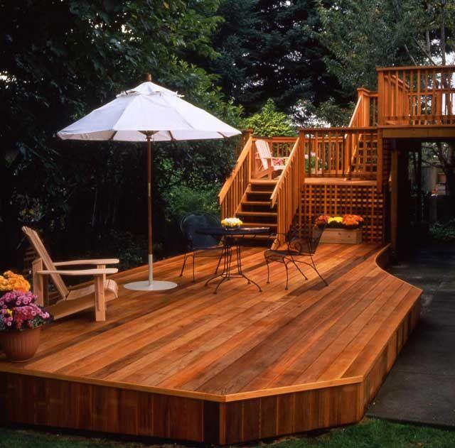 Big Backyard Landscaping Ideas: 17 Best Ideas About Cedar Deck On Pinterest