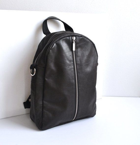 899dffc1c20 Upcycled Leather Backpack (Minimalistic)