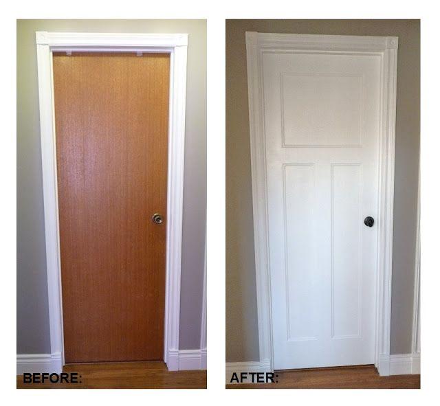 Diy Flat Panel Door Dress Up Inspiration Hmmmm I Might Consider This Option Home Decor In 2019 Replacing Interior Doors