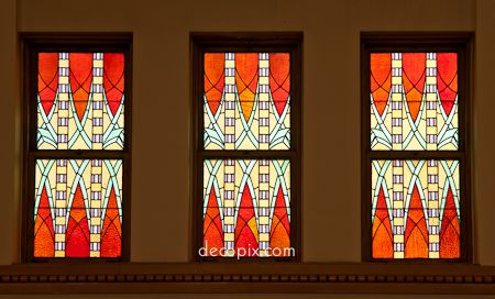 Stained Glass, Paroisse Ste-Marguerite, Magog, Quebec, Canada.
