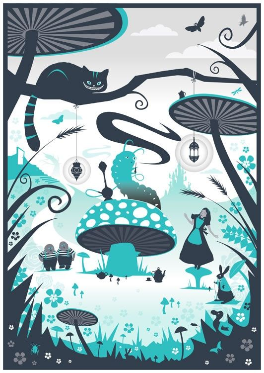 Resultado de imagen de alice in wonderland illustrations