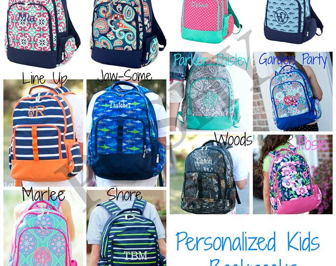 Personalized Kids Backpack, Monogrammed Backpack, Back to school, Kids backpack, girls backpack, boys backpack