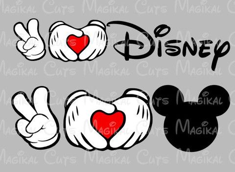 Download Peace, Love, and Disney SVG, Studio, EPS, and JPEG Digital ...