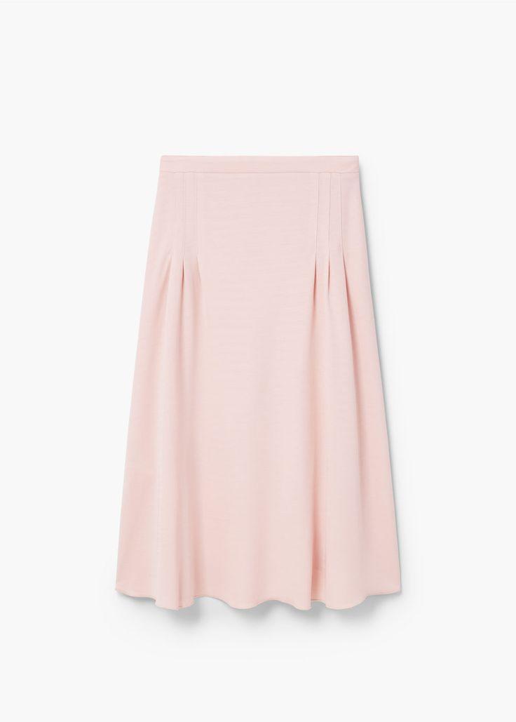 Decorative pleat skirt   MANGO