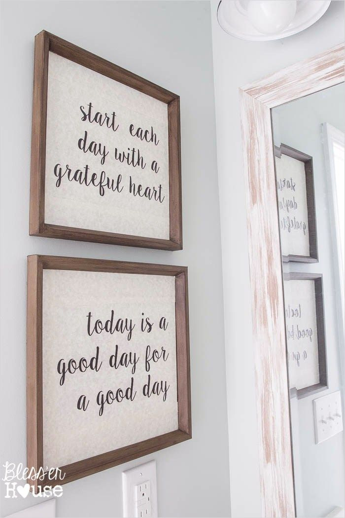 45 Amazing Ideas Farmhouse Bathroom Wall Art 51 Modern Farmhouse Bathroom Makeover Reveal 1 Modern Farmhouse Bathroom Farmhouse Bathroom Bathroom Makeover