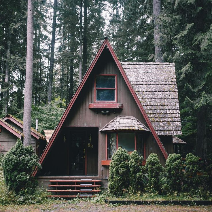 A-frame Cabin In The Pacific Northwest.