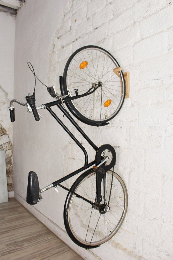 Tokyo Bike Rack Wall Mount Wooden Wall Hook Bike Storage Etsy Bike Rack Wall Bike Wall Mount Bike Storage