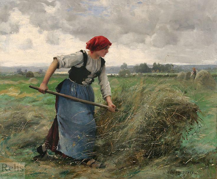 """""""La faneuse"""" by Julien Dupré (1851 - 1910)"""
