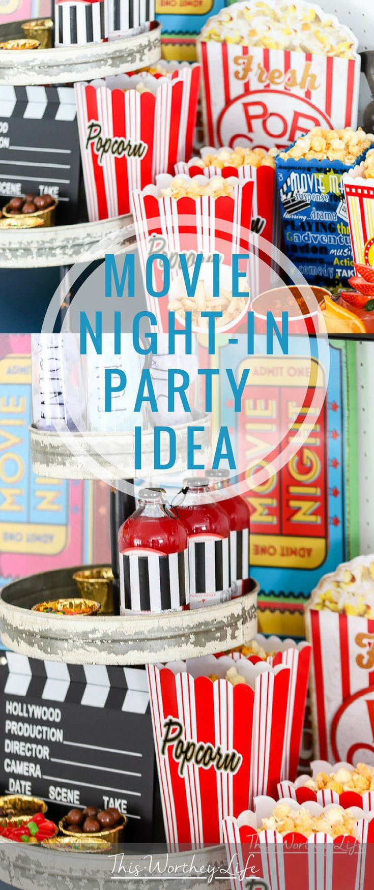 Msg 4 21+ Movie Night Party Ideas for Couples-Create your own movie night-in party with snacks, popcorn, and drinks with our party ideas listed below. We're reminiscing about the drive-in movie days and created an easy movie night party idea for our friends and family! #SignatureSips [AD]