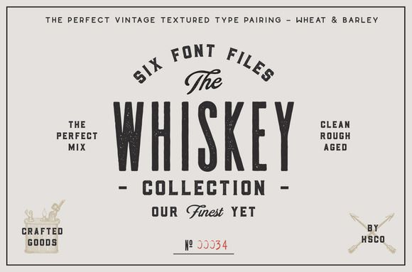 The Whiskey Font Collection by Hustle Supply Co. on @creativework247