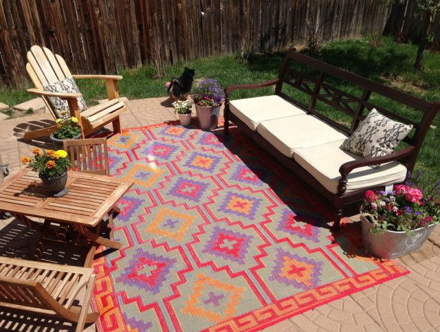 Outdoor Rugs Made From Recycled Plastic Bottles