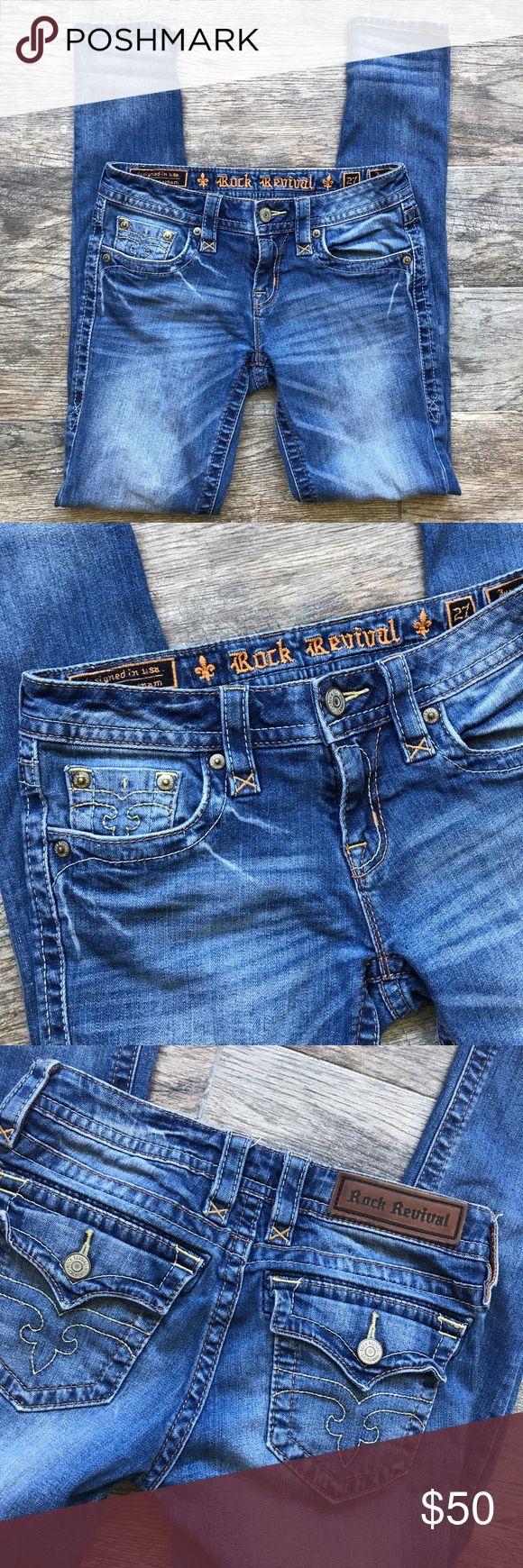 """Rock Revival 'Jessica Skinny' Jeans Rock Revival 'Jessica Skinny' Jeans - Size 27. Roughly 31"""" Inseam. Excellent used condition. Rock Revival Jeans Skinny"""