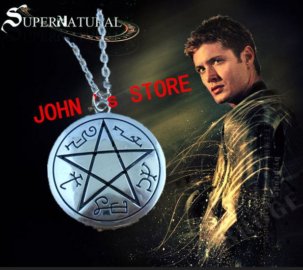 Freeshipping wholesale 50pc a lot Supernatural Dean protect symbol Necklace TCXB02