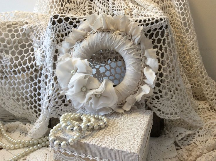 Shabby chic fabric wreath