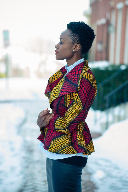 African print jacket ~Latest African Fashion, African Prints, African fashion, Ankara, Kitenge, Aso okè, Kenté, brocade ~DKK