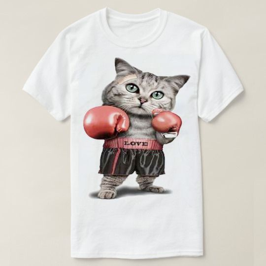 Boxing Cat Custom Shirts