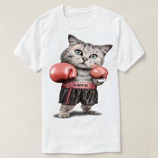 Boxing Cat Custom Shirts