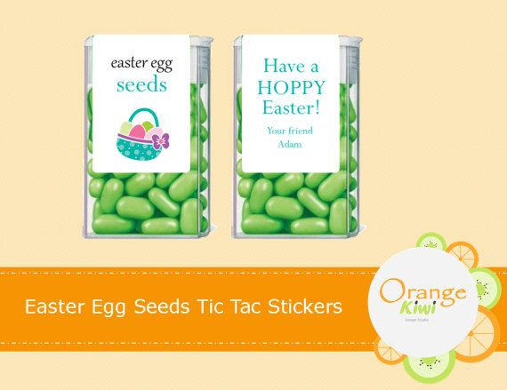 Easter Egg Seeds Tic Tac Labels Easter Tic Tac Stickers