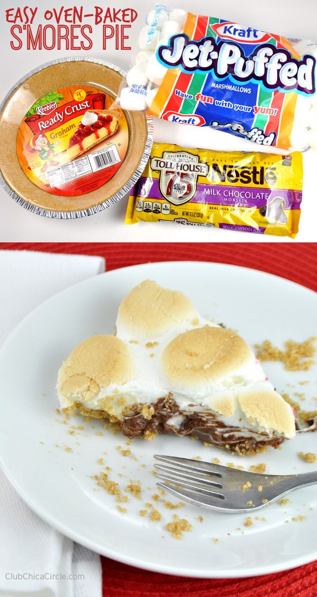 Easy S'mores Pie Recipe by Club Chica Circle