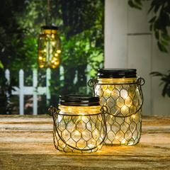 Rustic Wire Mason Jar Lamp – Knot and Nest Designs