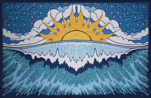 Sunrise Wave Tapestry www.trippystore.com/sunrise_wave_tapestry.html