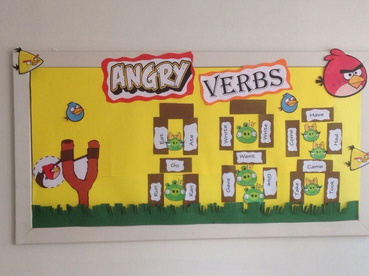 Simple past tense english bulletin board ideas