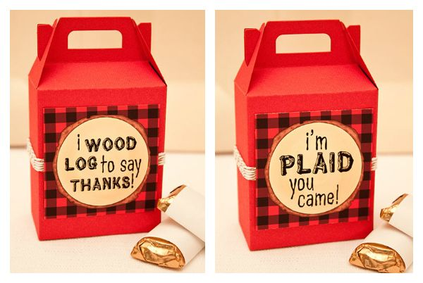 Favor: Lumberjack Favor Tags  {via Piggy Bank Parties}