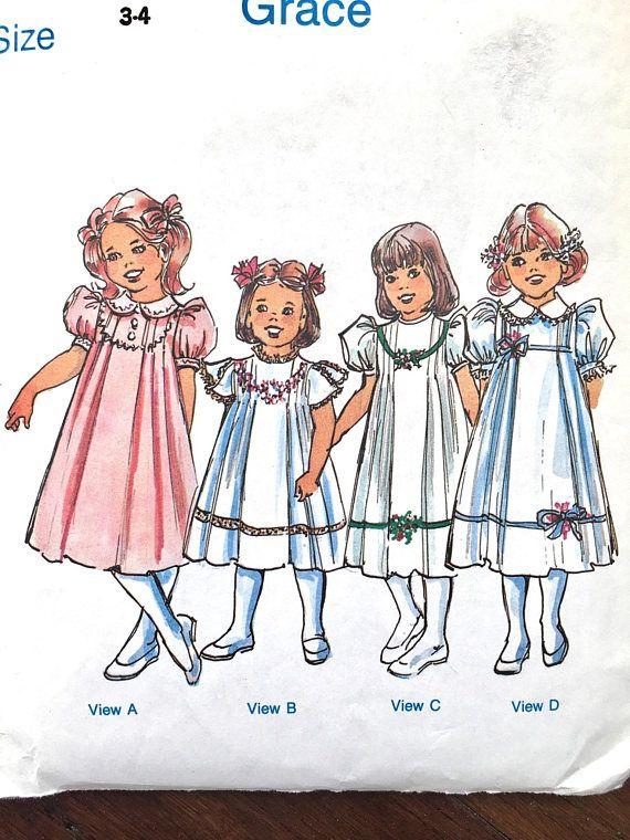 Heirloom Dress Pattern, The Children\'s Corner Designs, Size 3-4 ...