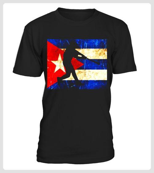 Distressed Cuba Baseball Flag TShirt Cuban Baseball Pride (*Partner Link)