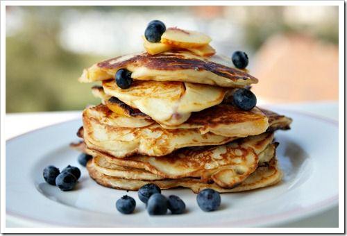 Ricotta nectarine pancakes