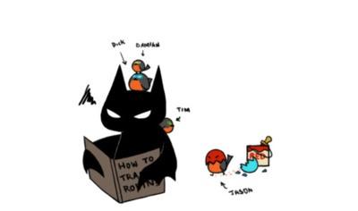 How to Train Robins. Cute Batman art.