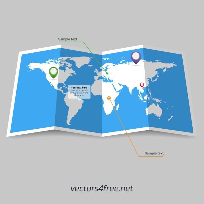 Mejores 16 imgenes de vectors4free en pinterest ilustraciones heres a great world map booklet vector fully editable and very easy to edit colors gumiabroncs Gallery