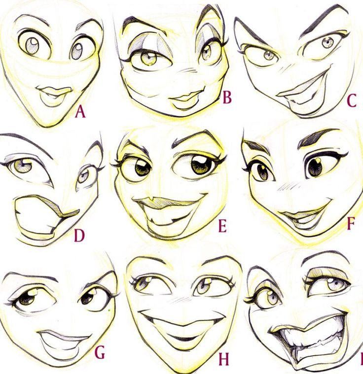 Cartoon Characters Eyes : Best drawing cartoon faces ideas on pinterest—no