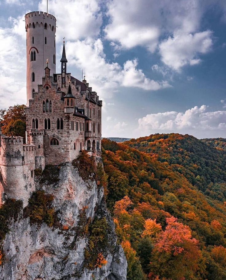 """43.2k Likes, 218 Comments - Living Europe (@living_europe) on Instagram: """"Magical land  ~ Lichtenstein Castle, Germany Photo: @thomayer Awesome pic!   TAG someone you…"""""""