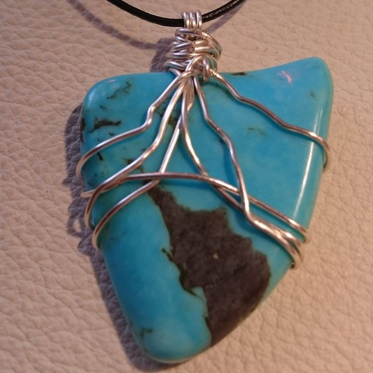 Turquoise Healing Pendant  #masterhealer #getwell #handmade #crystal #wirewrap #ascensionenchanted #natural