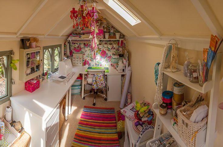 Posh sewing room
