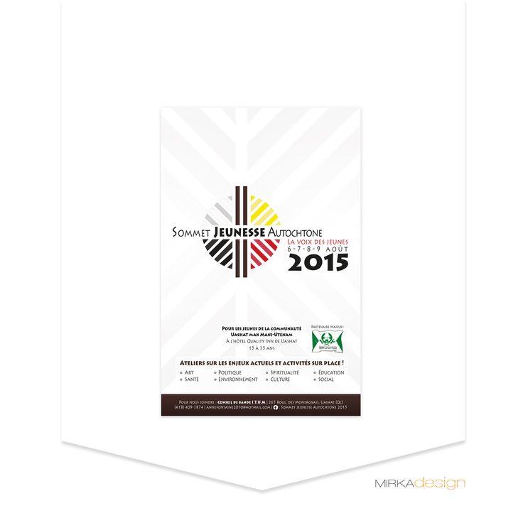 Affiche pour le Sommet Jeunesse Autochtone