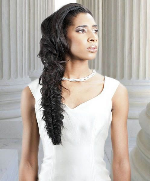 Miraculous 1000 Images About Fishtail Braids Wedding Hairstyles On Pinterest Short Hairstyles For Black Women Fulllsitofus