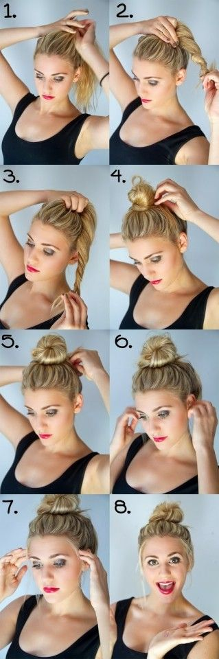 Phenomenal 1000 Ideas About Braided Messy Buns On Pinterest Messy Buns Short Hairstyles For Black Women Fulllsitofus