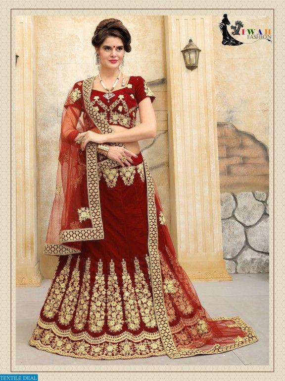 Shop Now Viwah Vol 2 Featured Designer Lehenga Choli Catalog Collection at Best Rate #TextileDeal #LehengaCholi #Choli #Navratri #WomensClothing