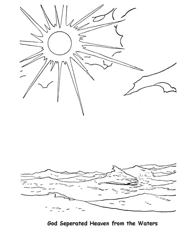 god created light coloring pages - photo#24