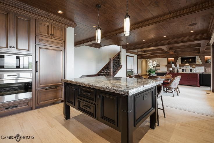 Kitchen Home Built By Cameo Homes Inc In Utah Cabinetry By Highline