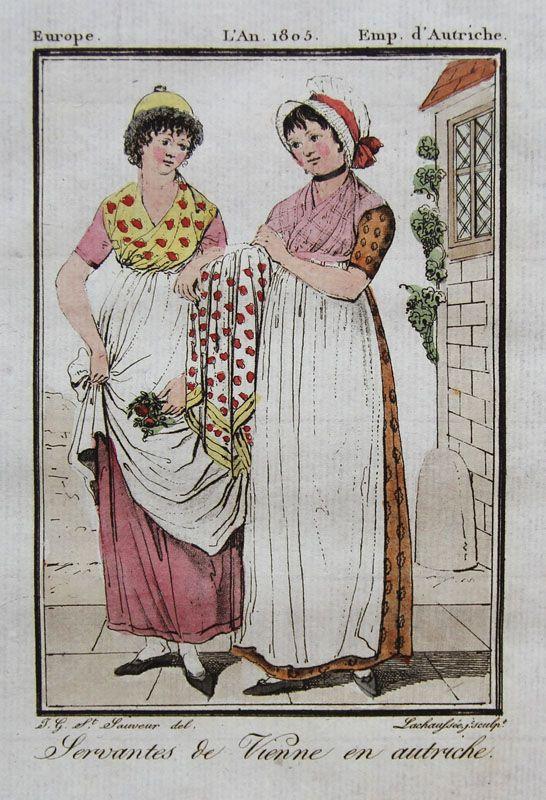 1805, Servantes de Vienne en autriche