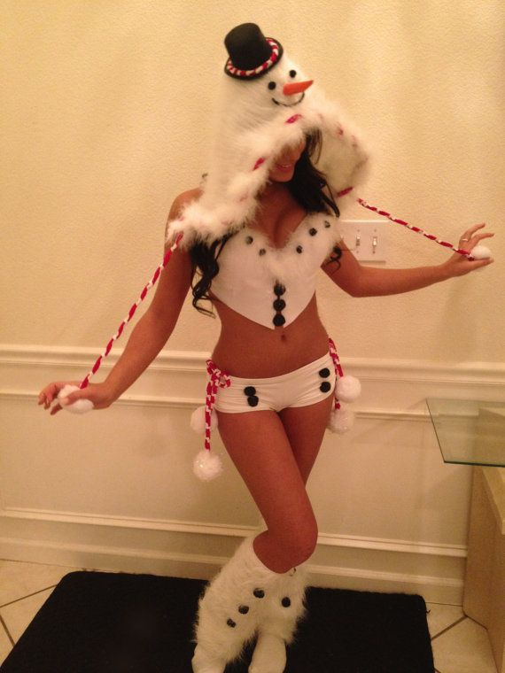 Snowman rave costume with matching hoodie and fluffies