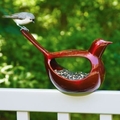 The Enchanted Bird Bird Feeder can be mounted on a deck rail, fence post, or stake. Wherever you decide to place it, this unique bird feeder will occupy a space of honor in your outdoor decor, because birds will love it as much as you do!: Birdfeeder Seedfeeder, Ruby Red, Birdfeeder Rubyred, Bird Feeders, Bird Birdfeeder, Enchanted Bird, Beautiful Birds, Garden
